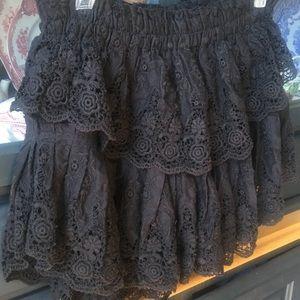 LoveShackFancy Skirts - LoveShackFancy mini skirt